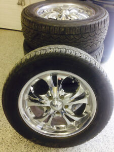 """18"""" Boss rims and tires"""