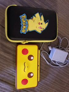 Pikachu 3ds xl with case