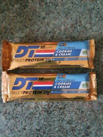 Protein bars - 48 bars cookies and cream