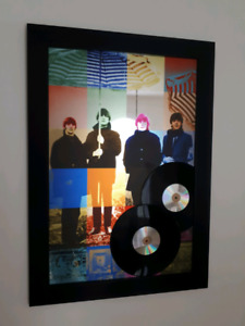The Beatles - Large Art Mirror Print w/ Records