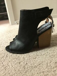 BRAND NEW peep toe ankle boots 7.5
