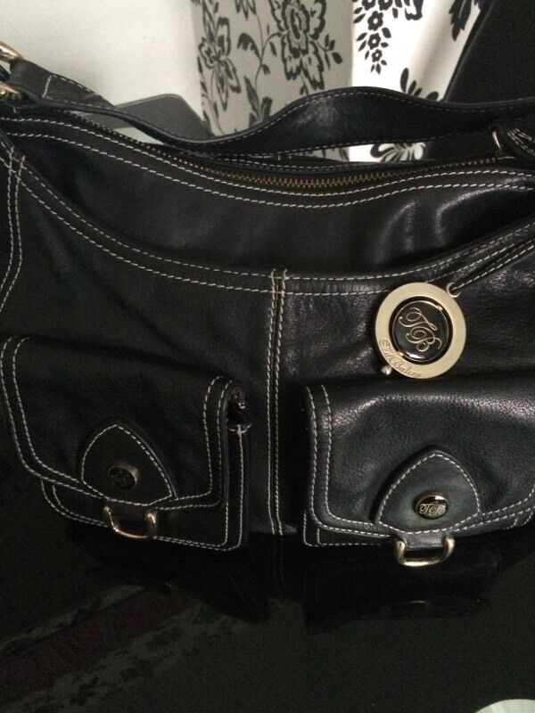 Genuine ted baker black leather bag