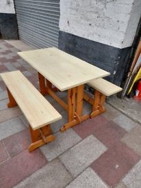 Vintage Pine Table and benches.