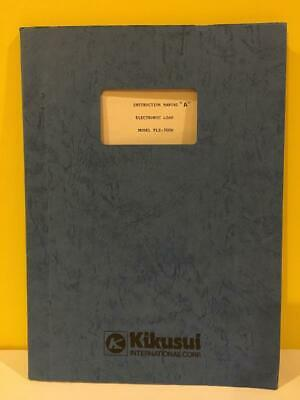 Kikusui 318728 Electronic Load Model Plz 300w Instruction Manual