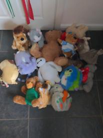 Bag full of soft toys