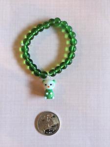 Hello Kitty Green Beaded Bracelet