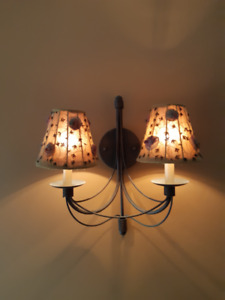 Lovely two-light wall sconces