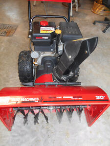 PRICE DEDUCED  ALMOST NEW YARD MACHINE SNOWER BLOWER