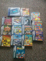 Gameboy advance in box with 14 games in box