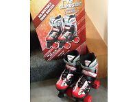 Blindside adjustable quad roller boots/skates size 1-3