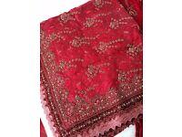 Wedding Lengha Deep Red size 8- 10