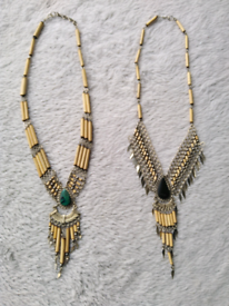 Alpaca silver/bamboo necklace *New*