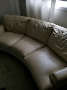 Elite Leather Company Curved Couch