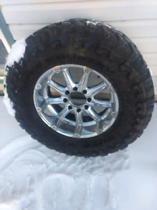 Spare 38 inch tire on 8x6.5