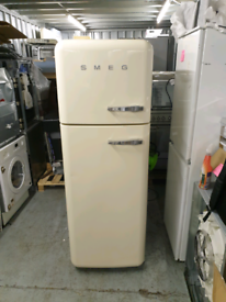 Graded SMEG Fridge Freezer - Cream