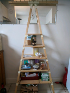 Ikea shelf and hanger, easy to transport, very sturdy!