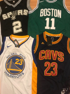 ** BASKETBALL - JERSEYS - LAKERS, JORDAN, CAVALIERS, CELTICS