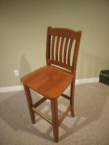Stained Wooden Bar Chairs Windsor Region Ontario image 3