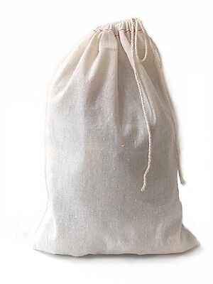 Large Muslin Cotton Drawstring Bag 8x10 inch - 10 count - Gift