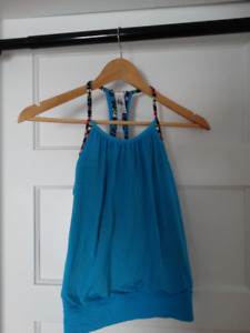 ivivva Blue double Dutch tank top-size 8-in great condition