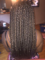 Tresses africaine pas cher (60$)!Starting at 60$ Box Braids Only