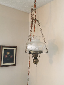 2 Table Lamps/Hanging Light Set