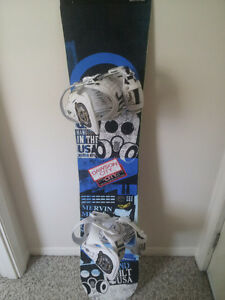 GNU snowboard and Technine bindings 159cm mens large snowboard