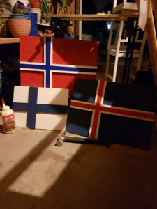 North Europe Recycled Wooden Flags