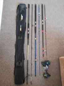Job Lot.Fishing Rods,Holdall & Reels