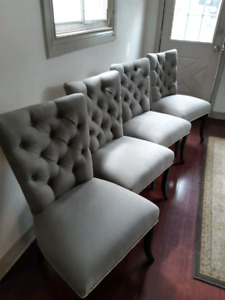 Brand new tufted chairs