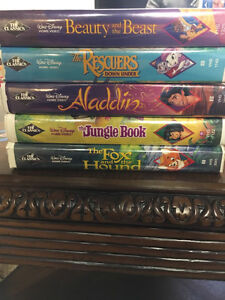 5 Rare Black Diamond The Classic Walt Disney VHS!