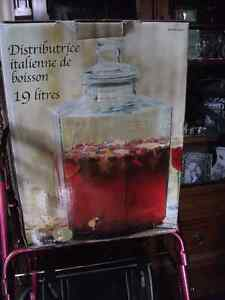 19L Punch Jar with Brass Spout Cambridge Kitchener Area image 2