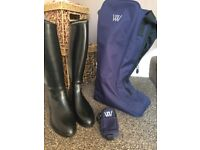 Aigle Riding boots and woof wear bag