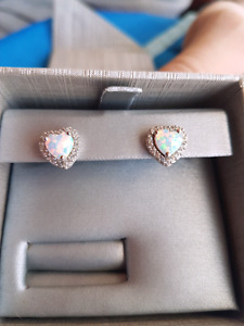 Brand new Opal Diamond earings
