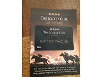 £20 Jockey club gift card, can be used to buy tickets at any Jockey club racecourse.