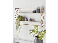 coxandcox burnished brass shelf RRP £150