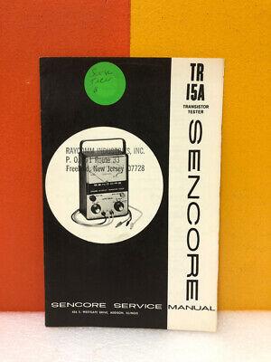 Sencore 389 Tr 15a Transistor Tester Service Manual