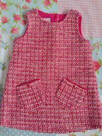 Baby girls Ted Baker gorgeous pink party dress 9-12 months
