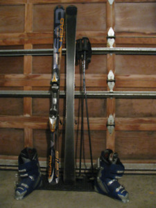 Men's Downhill Skis-C215; Rossignol Boots 26/304mm; & Poles
