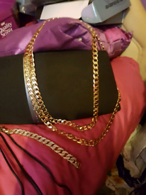 Lovely present gold filled chains 24in and 32inch chains