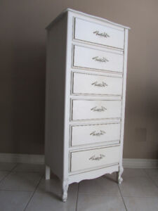 White French Provincial Lingerie Chest