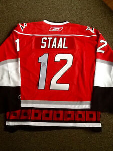 Eric Staal Carolina Hurricanes autographed jersey NHL