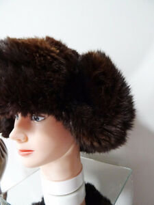 RUSSIAN FUR HAT shapka ushanka treukh EAR FLAPS trooper SABLE Kitchener / Waterloo Kitchener Area image 5