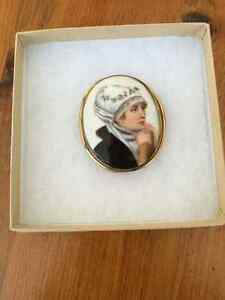 Antique Portrait Brooch
