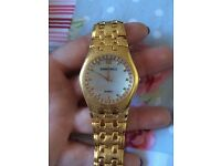 Woman's Gianni Ricci Gold Plated Diamonté Watch