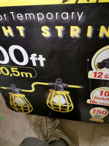 Out door temporary lights strings