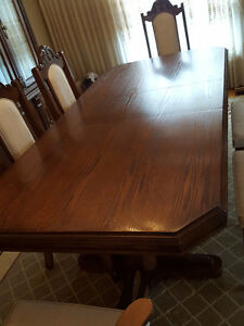 Dining Set – Table, 6 chairs and Hutch