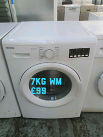 New electra white 7kg washing machine free delivery