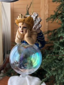 Katherine's Collection Ornament - Chubby Blue Mermaid Bubble