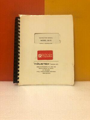 Wavetek Model 3010 Signal Generator Instruction Manual